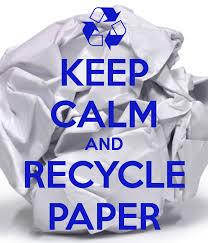 Картинки с надписями Keep calm and recycle paper