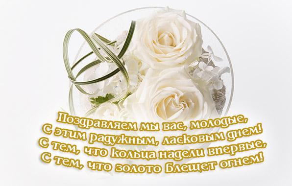 Поздравления со свадьбой для саши и