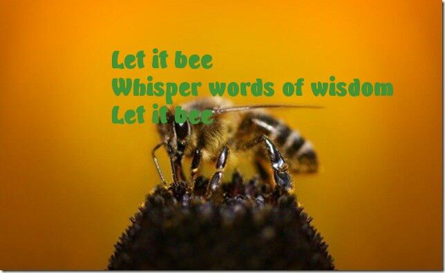 Картинки с надписями Let it bee