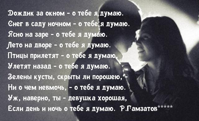 Стих я всю ночь о тебе думала