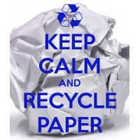 Keep calm and recycle paper